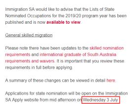 2019-2020财年南澳最新州担保技术移民政策及职业清单列表