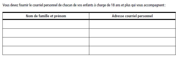 PEQ移民申请表格更新 着重强调申请人邮箱信息